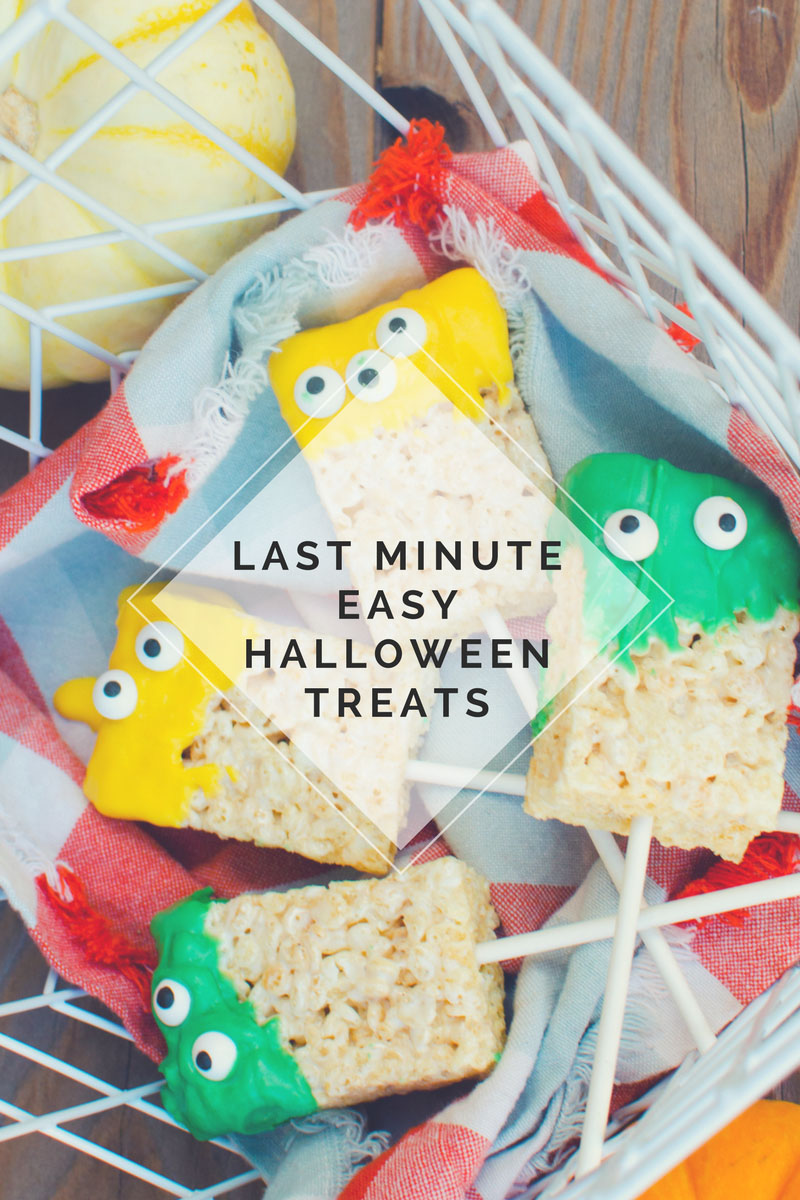 Last Minute Easy Halloween Treats